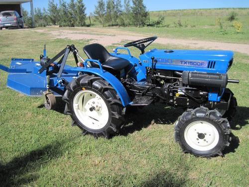 tractor iseki tx 15000  4x4 con chirquera nueva incluida !!!