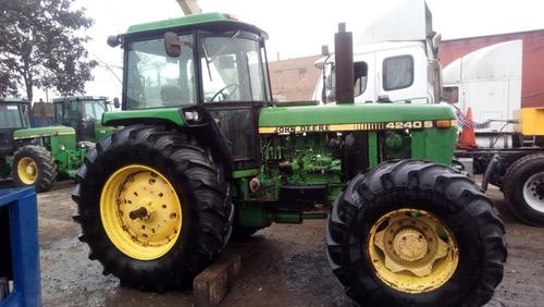 tractor john deere 4240 s -132 hp aleman incluye contrapesas