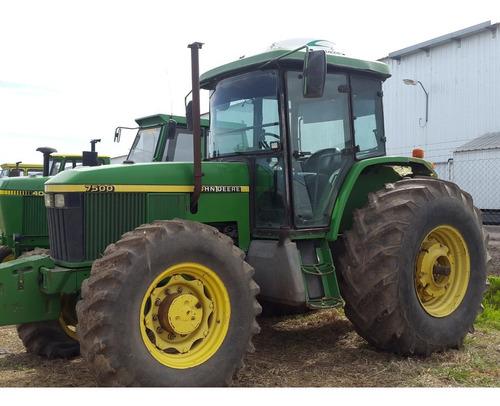 tractor john deere 7500, 140hp, cabinado, muy bueno, 1999