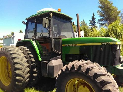 tractor john deere año 1997, modelo 7500