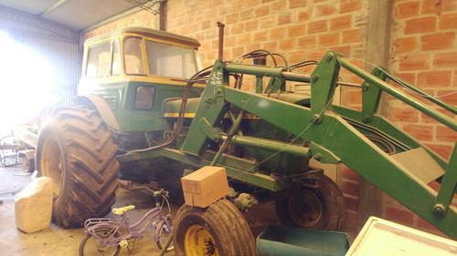 tractor john deere con pala y levanta rollo