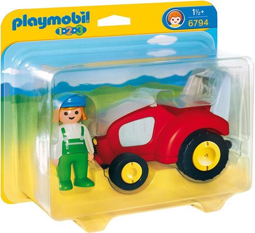 tractor juguete playmobil niños r5240