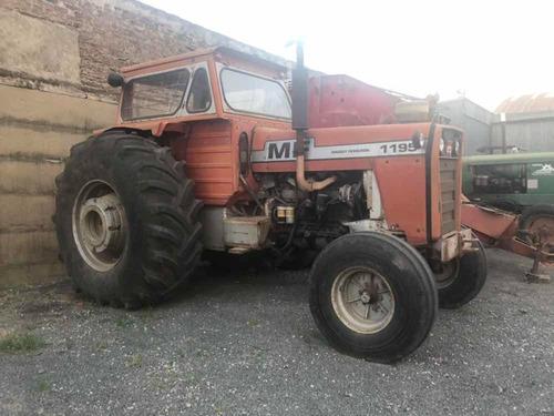 tractor massey ferguson 1195. cabina, doble comando rod 32