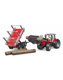 Tractor Ferguson 1 7480 Con Cargador Bruder Escala Massey 16 n8v0wOmN