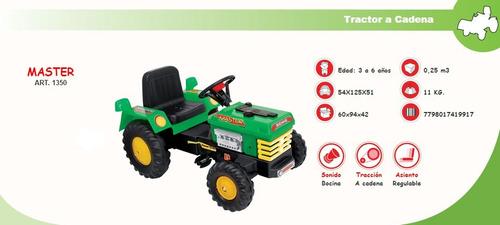 tractor master a pedal con cadena biemme casa valente