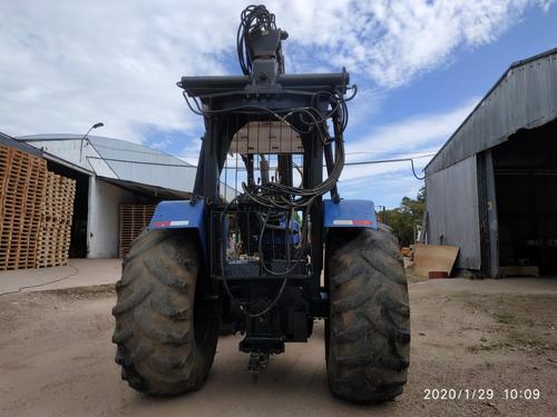 tractor new holland con grapo y cazamba