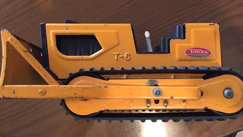 tractor tonka de hierro, en muy buen estado. de coleccion.