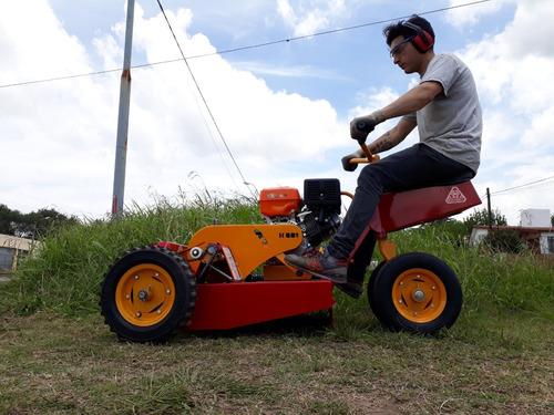 tractorcito cortacesped y malezas h001 pro motor honda 13hp