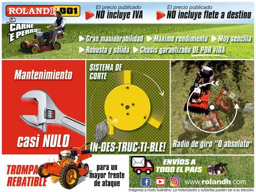 tractorcito cortacesped y malezas roland h001 pro 6x4 13hp