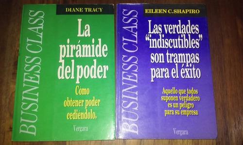 tracy-shapiro. poder éxito business. 2 libros. vergara