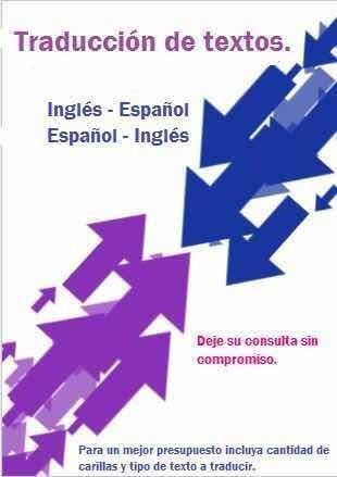 traducción de textos. inglés- español español-inglés