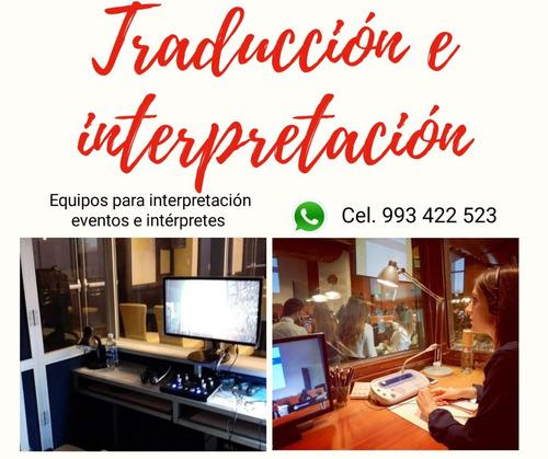 traducción simultánea, equipos fijos, portátiles, traducción