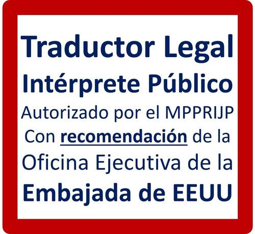 traducción. traductor legal (intérprete público) del inglés
