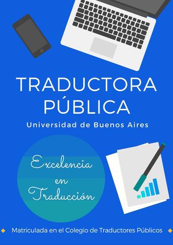 traducciones al inglés y castellano // traductora pública