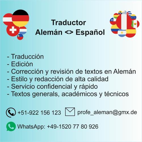 traducciones alemán / español, traductor nativo de alemania