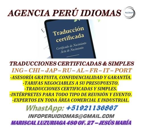 traducciones certificadas a su presupuesto