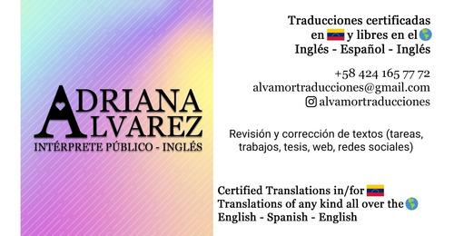 traducciones certificadas intérprete público español inglés