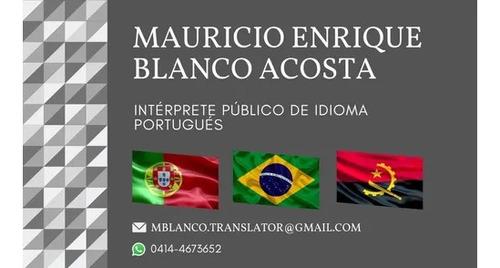 traducciones certificadas portugués español