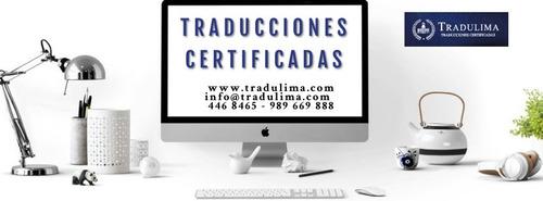 traducciones certificadas - tradulima