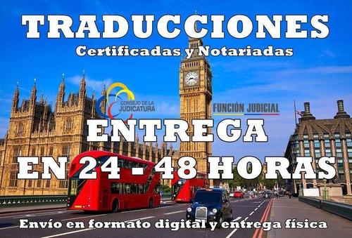 traducciones certificadas y notariadas, traductor calificado