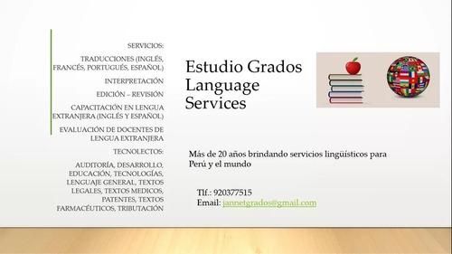 traducciones - clases inglés