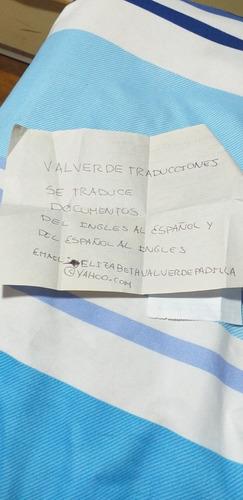 traducciones del ingles al español y del español al ingles