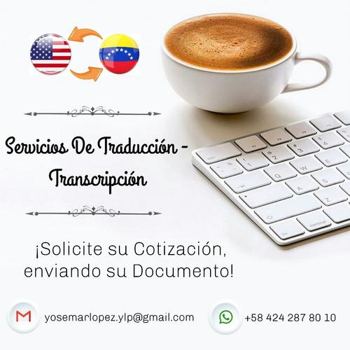 traducciones inglés - español. ¡precios convenientes!