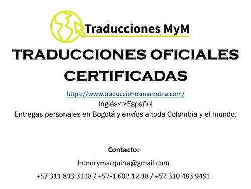 traducciones oficiales certificadas en inglés y español