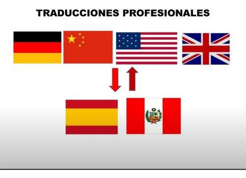 traducciones profesionales. traductor. chino. alemán. ingles