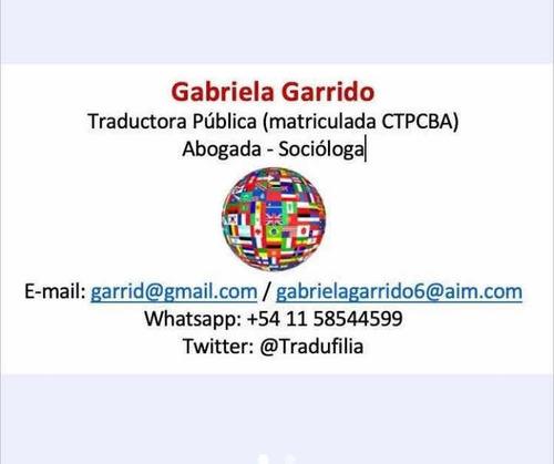 traducciones públicas y simples, español/inglés
