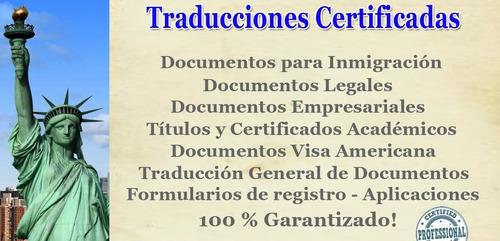 traducciones simples y certificadas (in, fra, por, ita, es)