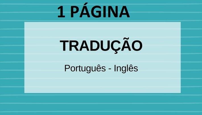Tradução Português ⇔ Inglês para Artigos ...