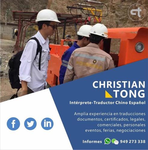 traductor chino con amplia experiencia