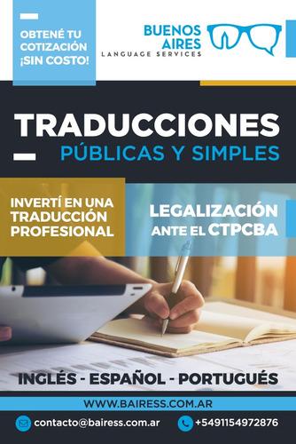 traductora experta en agronegocios y comercio exterior