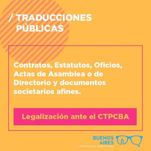 traductora públicas de inglés certificada ata ctpcba