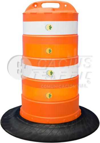 trafitambo naranja americano con base negra y con reflejante