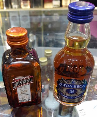 tragos licor miniatura whisky ron vodka jager fernet tequila