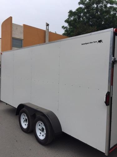 traila caja seca, remolque cerrado, utv, atv, carga general.