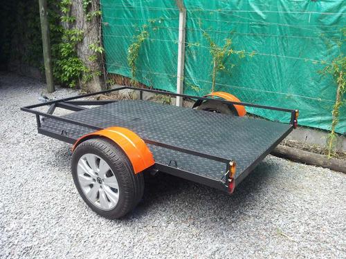 trailer 1.50 x 2.30 util  moto cuatriciclo karting cuatri