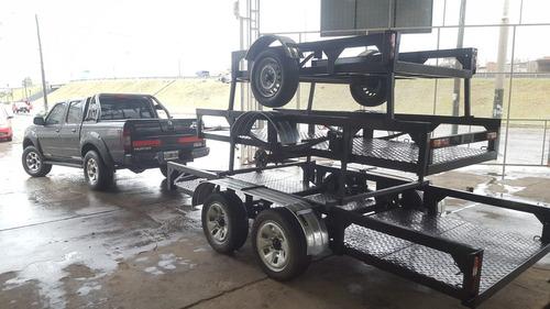 trailer 3 x 1,2 metros 1 eje pesado moto cuatriciclo arenero