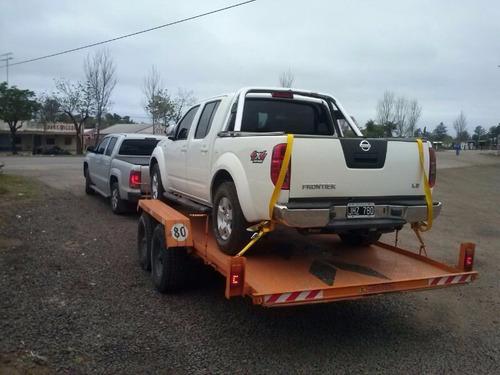 trailer 3000 kg / autos camionetas auxilio camilla 12 cuotas