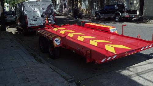 trailer 3000 kg/ autos camionetas auxilio camilla vehiculo