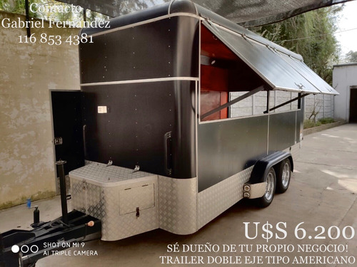 trailer 4.30 doble eje tipo americano .of dolar billete.