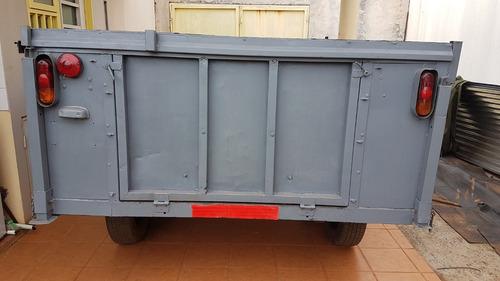 trailer acoplado con tapa deslizable dos ejes con balancines