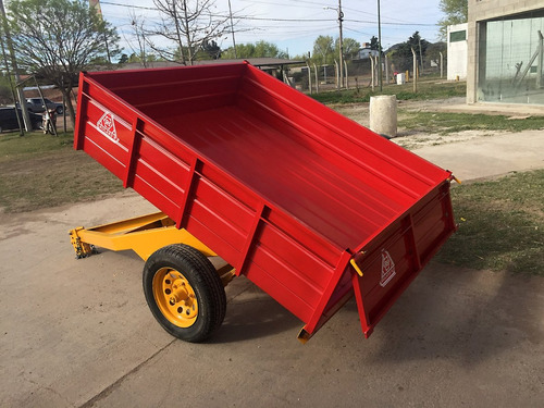 trailer agricola vehicular roland h1000 volcador, carro1 eje