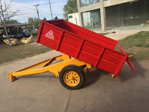 trailer agricola vehicular roland h1000 volcador hidráulico