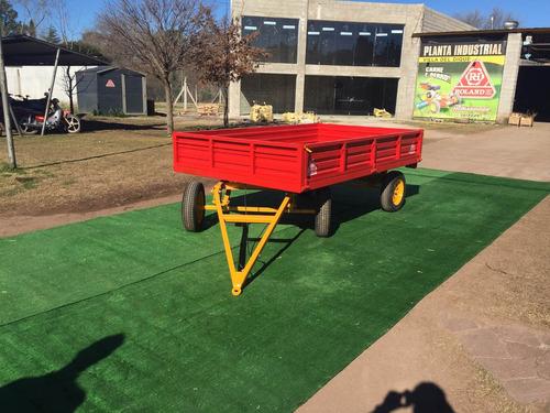 trailer agricola vehicular roland h2000 kg 2 ejes c/avantrén