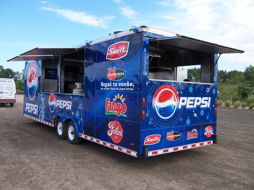 trailer americano ya patentado ideal food truck - eventos