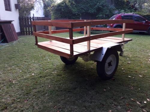 trailer auto carga 400kg caja 120cm ancho 190 largo excelent