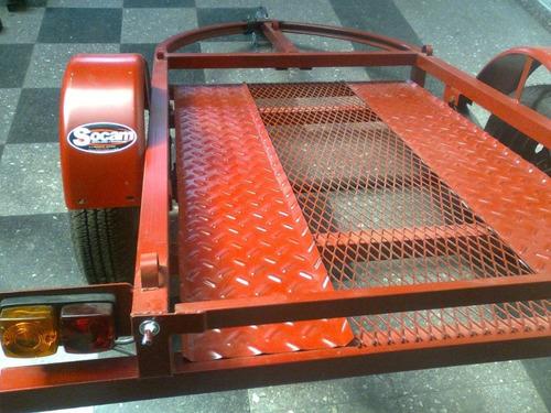 trailer bajo piso entero de 1,25m x 2m para cuatriciclo